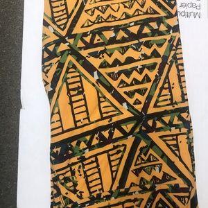 Yellow geometric leggings